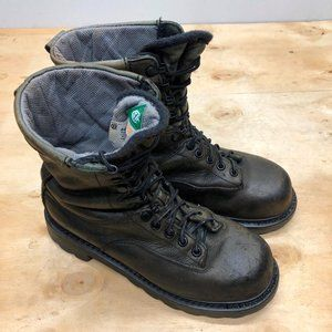 Men's Terra Work Boots Brown Leather Size 9 Hard